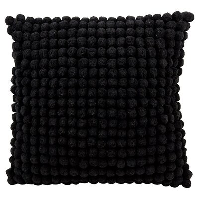 Janik Pom Pom 100% Cotton Throw Pillow Color: Black