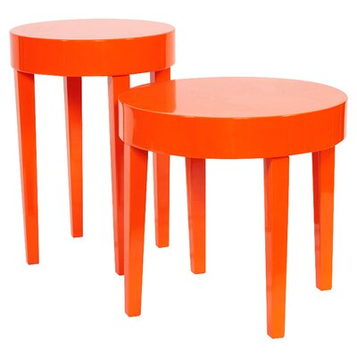 Casarez 2 Piece Lola End Table Set