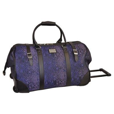 Python Rolling Duffel Bag In Purple