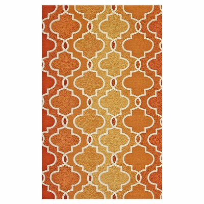 Hannah Handmade Hooked Sunset Indoor/Outdoor Area Rug Rug Size: Rectangle 36 x 56