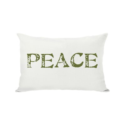 Holiday Peace Reversible Lumbar Pillow