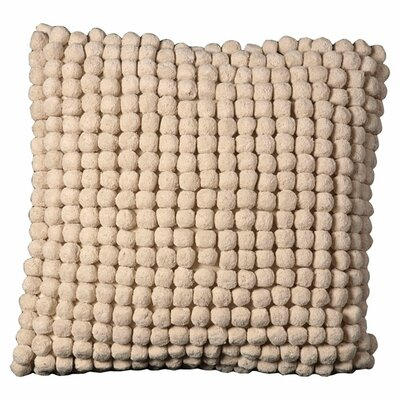 Janik Pom Pom 100% Cotton Throw Pillow Color: Beige
