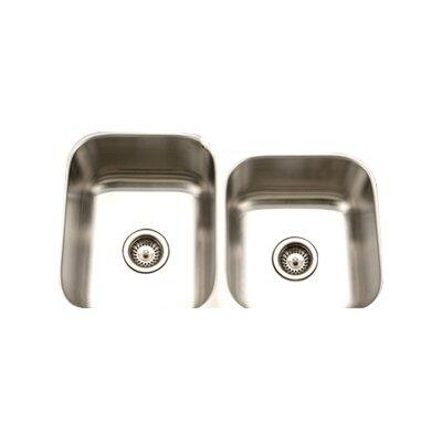 Eston 31.25 x 20 Undermount 60/40 Double Bowl Kitchen Sink