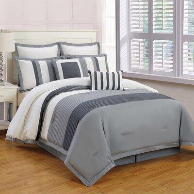 Shasta Embroidered Comforter Set Size: Queen