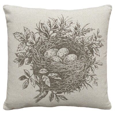 Nest Linen Throw Pillow