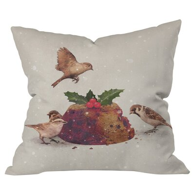 Christmas Pudding Raid Outdoor Throw Pillow Size: 18 H x 18 W