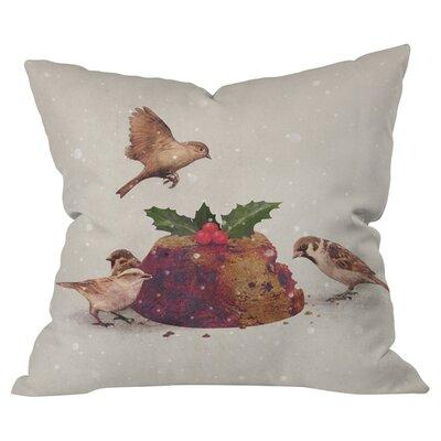 Christmas Pudding Raid Outdoor Throw Pillow Size: 18 H x 18 W