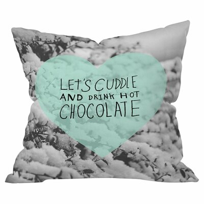 Winter Time Love Outdoor Throw Pillow Size: 18 H x 18 W