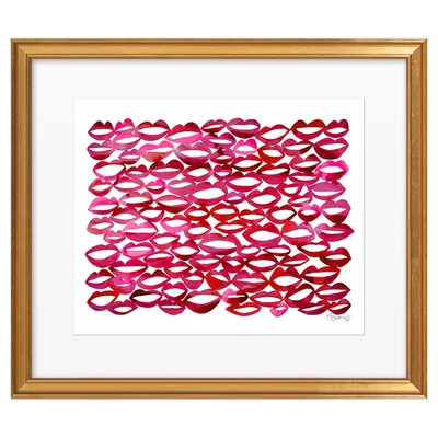 Juicy Lips By Kate Roebuck Framed Print