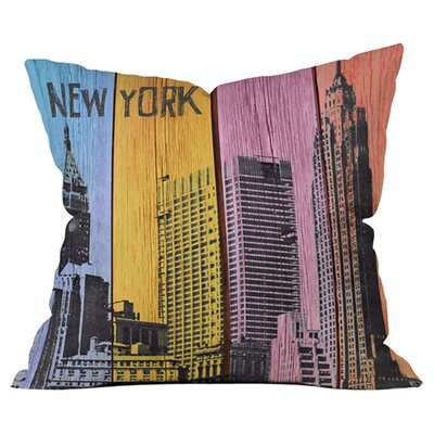New York Downtown Outdoor Throw Pillow Size: 18 H x 18 W