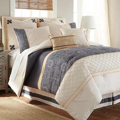 8 Piece Linda Comforter Set Size: King