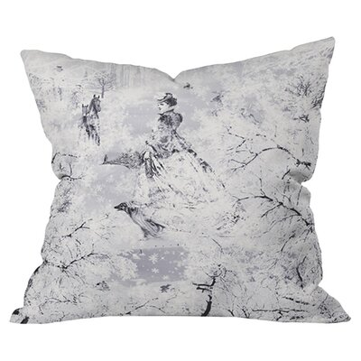 Winter Lady Outdoor Throw Pillow Size: 18 H x 18 W