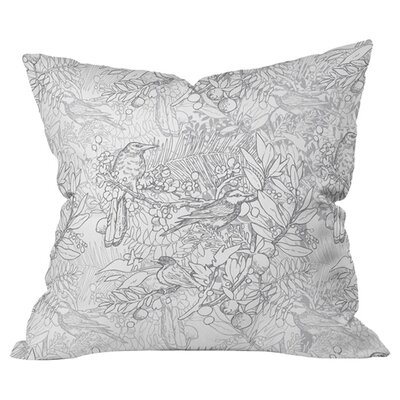 Birds OutdoorThrow Pillow Size: 16 H x 16 W