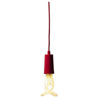 Plumen 1-Light Exposed Mini Pendant Finish: Red