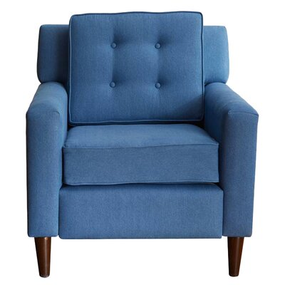 Bailey Tufted Linen Arm Chair