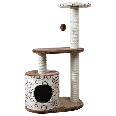 Casta 37 Cat Tree Color: Brown / Beige