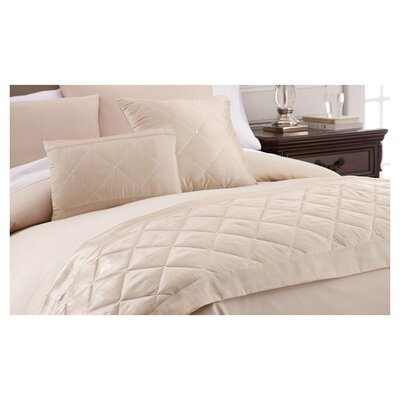 Swarovski Crystal 3 Piece Throw Pillow Set Color: Beige