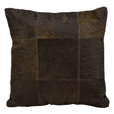 Sulphur Leather Throw Pillow Color: Brown