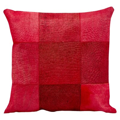 Sulphur Leather Throw Pillow Color: Scarl