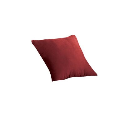 Soft Suede Self Cord Throw Pillow Color: Burgundy
