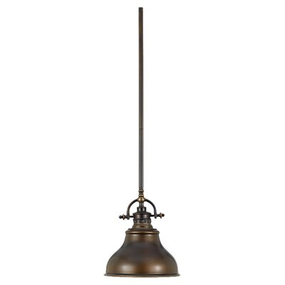 Cetona 1-Light Mini Pendant Finish: Palladian Bronze, Size: Large