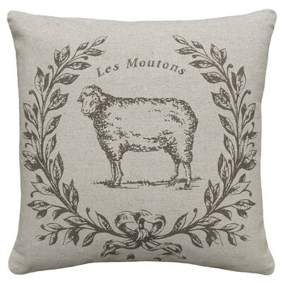 Sheep Linen Throw Pillow