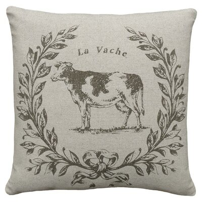 Cow Linen Throw Pillow
