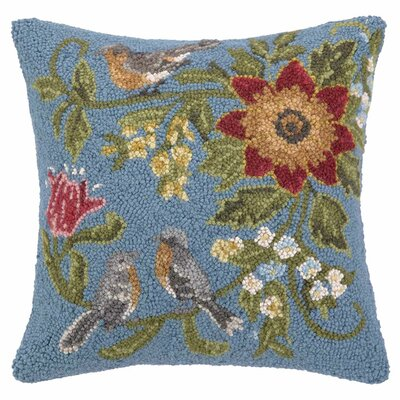 Daisy Wool Throw Pillow