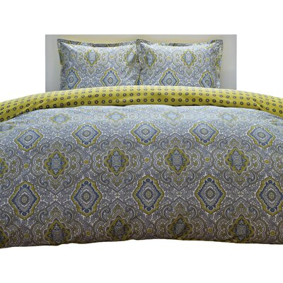 City Scene Milan Comforter Set in Yellow - Size: Full / Queen Color: Yellow