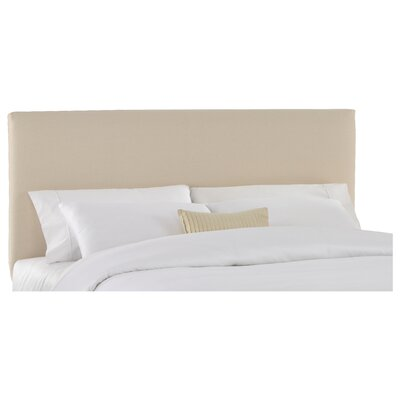 Slip Cover Upholstered Panel Headboard Size: Twin, Color: Natural