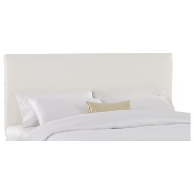 Slip Cover Upholstered Panel Headboard Size: Full, Finish: White