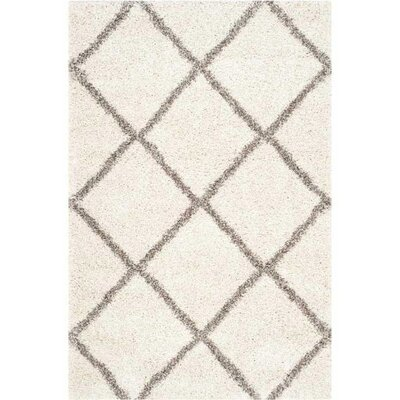 Lucina Ivory / Gray Area Rug Rug Size: 2 x 3