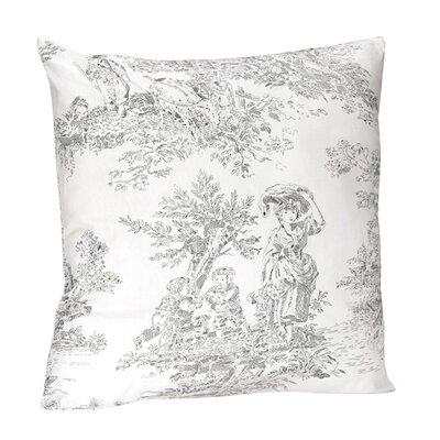 French Toile Cotton Throw Pillow