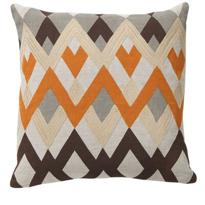 Global Bazaar Bijou Echo Linen Throw Pillow Color: Orange