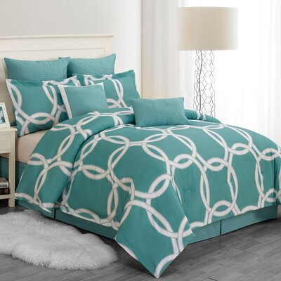 Readington Comforter Set in Blue-Green REDINGTON 4170=1