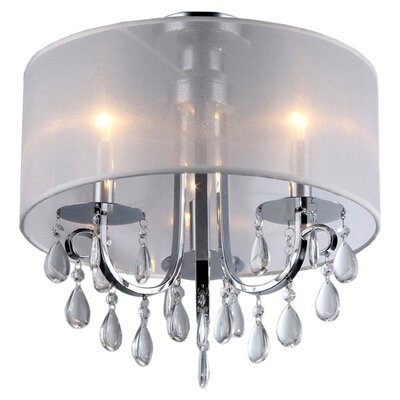 Olivia 3-Light Semi Flush Mount