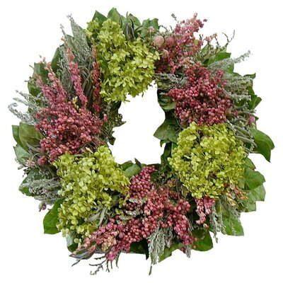 Hydrangea and Pink Flowers 22 Wreath