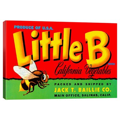 Little B Vintage Advertisment on Canvas PCA67-1PC3-18x12