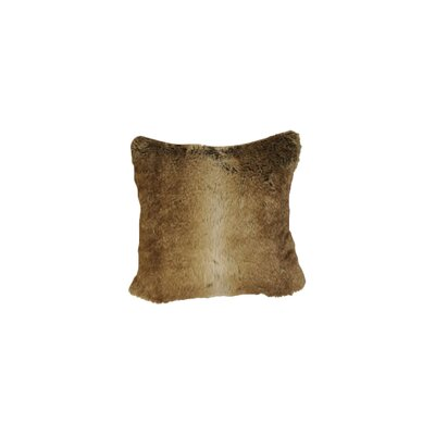 Chinchilla Faux Fur Throw Pillow