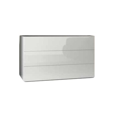 Lux 3 Drawer Dresser Color: White