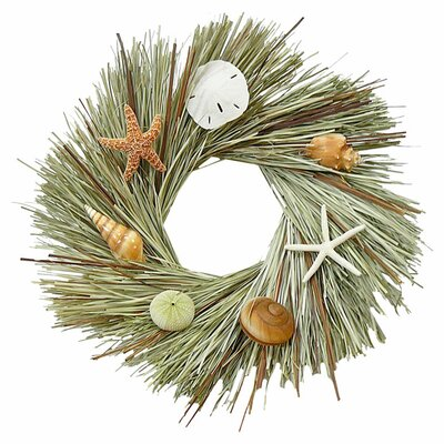 Preserved Cattail and Beargrass 22 Wreath
