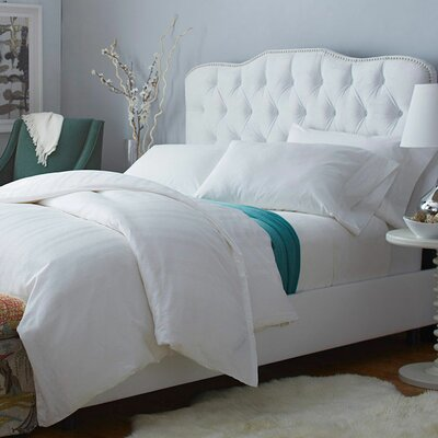 Wheeling Upholstered Panel Bed Size: Full, Color: Velvet White