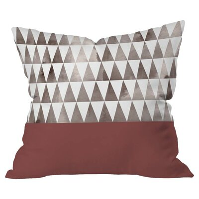 Earthy Triangles Outdoor Throw Pillow