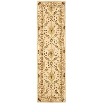 Anatolia Cream/Red Area Rug Rug Size: Rectangle 6 x 6