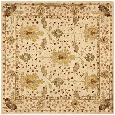 Anatolia Cream/Red Area Rug Rug Size: 8' x 8'