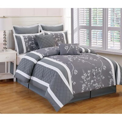 Riverbank 8 Piece Duvet Cover Set Size: King