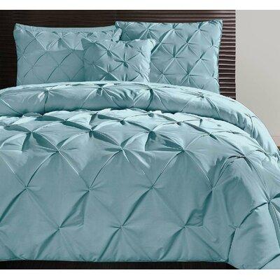 Asphod�le 4 Piece Comforter Set Color: Blue, Size: Queen