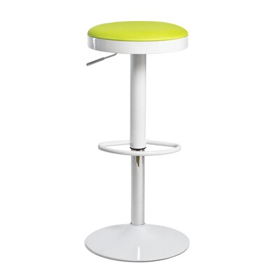 Fun, Colorful Carrie Adjustable Height Swivel Bar Stool Upholstery: Green
