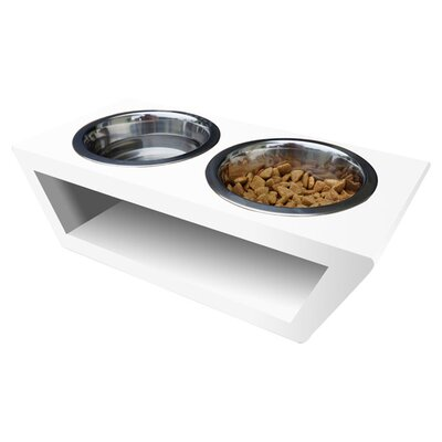 Torra Double Bowl Pet Diner Size: Medium
