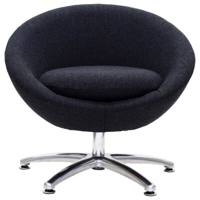 Overman Five Prong Base Astro Barrel Chair Color: Black